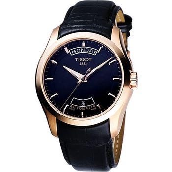 TISSOT Couturier 建構師系列大三針機械錶(T0354073605100)