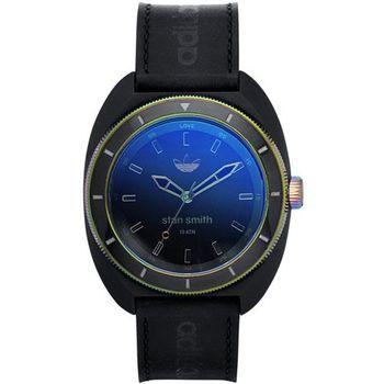 adidas 石油危機簡約皮革腕錶-藍紫炫彩 42mm / ADH2956