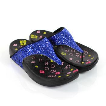 【Pretty】ROFAMNI 若梵妮_德國PU環保素材夾腳健走鞋-藍色