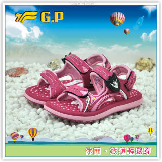 【G.P 活力涼鞋28-34尺碼】G9149B-45 多功能磁扣涼鞋(桃紅色共三色)