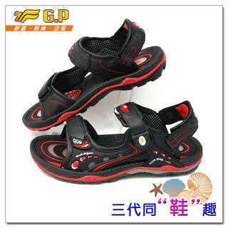 【G.P 休閒多功能氣墊涼鞋】G9153-14 37-43尺碼(黑紅色共三色)