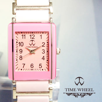 TIME WHEEL 數字方型陶瓷錶