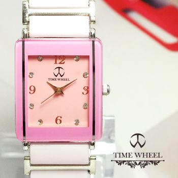 TIME WHEEL 時尚方型陶瓷錶