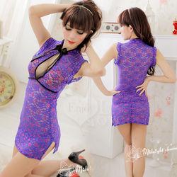 蘇菲雅驚艷京都!性感二件式旗袍裝(紫)NO.530982