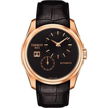 TISSOT Couturier 建構師偏心系列機械腕錶T0354283605100