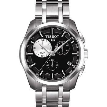 TISSOT Couturier 建構師系列GMT計時腕錶-黑T0354391105100