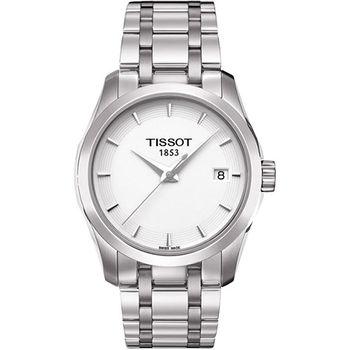 TISSOT T-Trend Couturier Lady 時尚簡約腕錶-白T0352101101100