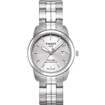TISSOT PR100 都會年代機械女錶-銀T0493071103100