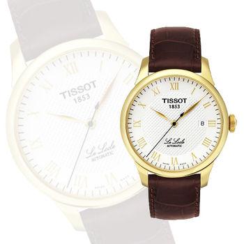 TISSOT Le Locle 力洛克圖騰紋機械錶-金 T41541373