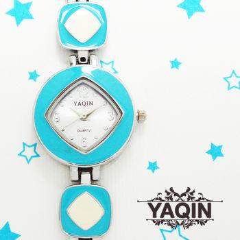 亮彩菱格淑女鍊錶