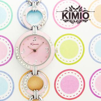 KIMIO音符彩膠晶鑽鍊錶