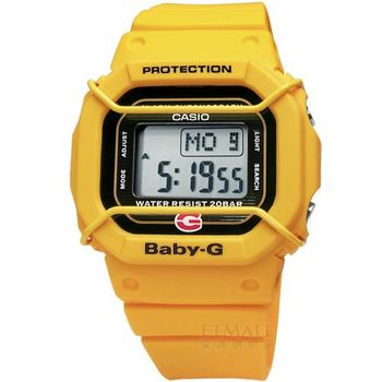 Baby-G 20周年紀念錶款 強悍潮流女孩電子錶 38mm 黃色 / BGD-500-9