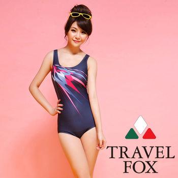 【TRAVELFOX 旅狐】運動款連身三角泳衣C14707