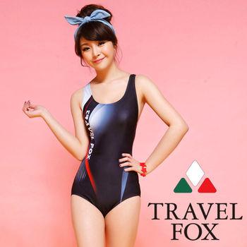 【TRAVELFOX 旅狐】運動款連身三角泳衣C14708