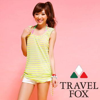 【TRAVELFOX 旅狐】背心式外搭罩衫C14712