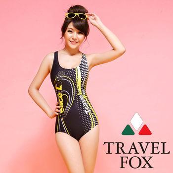 【TRAVELFOX 旅狐】運動款連身三角泳衣C14706