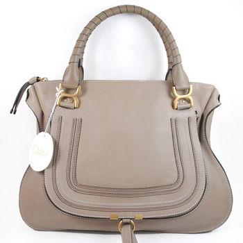 【CHLOE】3S0851-161 Marcie Bag 時尚質感皮革雙把肩背包(大象灰)