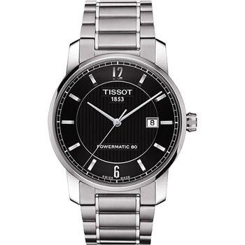 TISSOT T-Classic Powermatic 80【鈦】機械腕錶T0874074405700