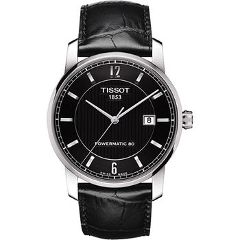 TISSOT T-Classic Powermatic 80【鈦】機械腕錶T0874074605700