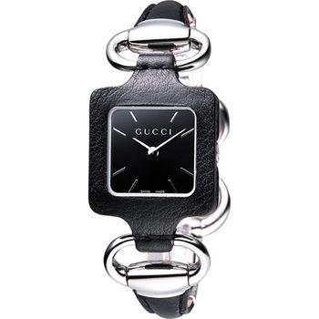 GUCCI 1921 經典時尚名媛手鍊錶-黑YA130402