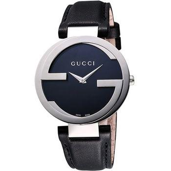 GUCCI 經典時尚元素女錶-黑YA133501