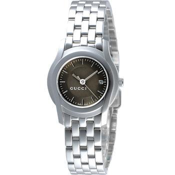 GUCCI G-Class 都會經典時尚女錶-咖啡金YA055524