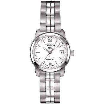 TISSOT PR100 經典復刻石英女錶-白T0492101101700