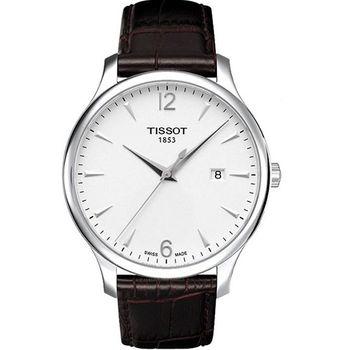 TISSOT Tradition 復刻大三針腕錶T0636101603700