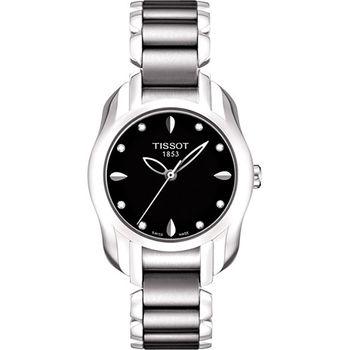TISSOT T-Wave 心漾美姬真鑽腕錶-黑T0232101105600