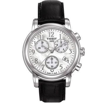 TISSOT Dressport 三眼計時腕錶T0502171611200