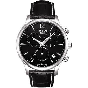 TISSOT TRADITION 復刻計時腕錶-黑T0636171605700