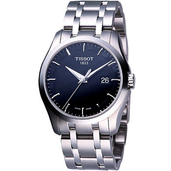 TISSOT Couturier 建構師系列大三針時尚錶T0354101105100