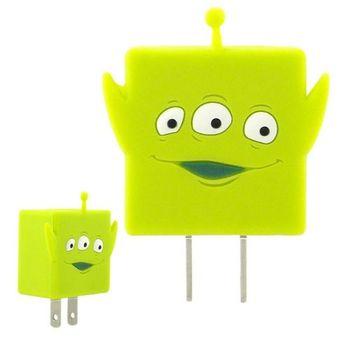 Disney 可愛造型充電轉接插頭 USB充電器 -三眼怪