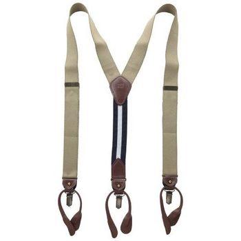 Tommy Hilfiger 2014男士卡其色彈性織帶吊帶褲夾(預購)