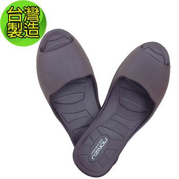 【台灣製造】MIT環保室內防滑設計拖鞋(XL: 咖啡色)
