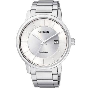 【CITIZEN】經典簡約光動能腕錶(銀白)BM6750-59A