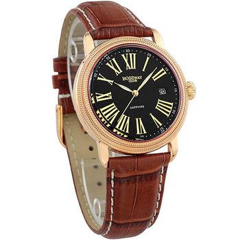 BOSSWAY經典紳士雙錢幣紋腕錶-四色選擇/40mm