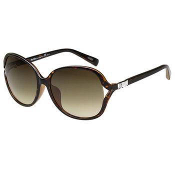 MaxMara 圓面簍空水鑽 太陽眼鏡(琥珀色)