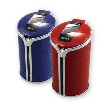 【YAC】碳纖維太陽能LED煙灰缸 菸灰缸 (1入)