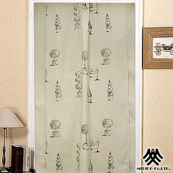 【M.B.H】歐塔卡曼三片式開運風水簾88x176cm