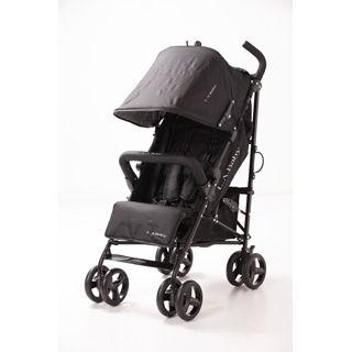 【L.A. Baby 美國加州貝比】時尚輕便嬰兒手推車(黑色)
