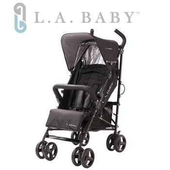 【L.A. Baby 美國加州貝比】時尚輕便嬰兒手推車(黑色/藍色/紅色)