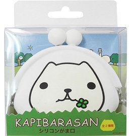 kapibarasan 水豚君幸運草橡膠珠扣包
