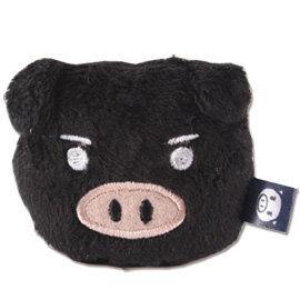 UNIQUE 可愛豬造型磁鐵 黑色