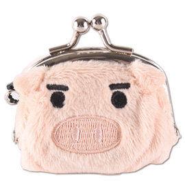 UNIQUE 可愛豬造型小珠扣包 膚色