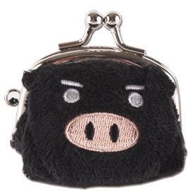 UNIQUE 可愛豬造型小珠扣包 黑色