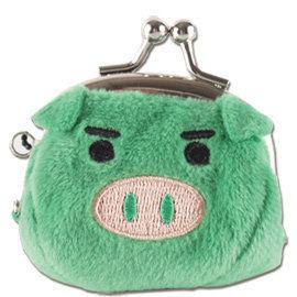 UNIQUE 可愛豬造型小珠扣包 綠色