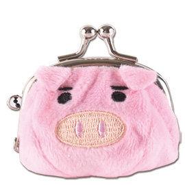 UNIQUE 可愛豬造型小珠扣包 粉紅色
