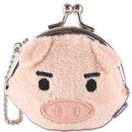 UNIQUE 可愛豬迷你臉型珠扣包