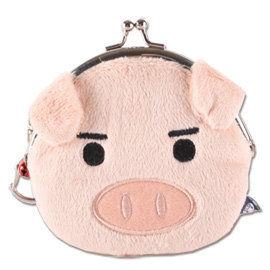 UNIQUE 可愛豬臉型珠扣包